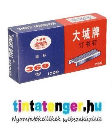 Tűzőkapocs 24/6 Anhui Great Hall No.10 - 1000db.