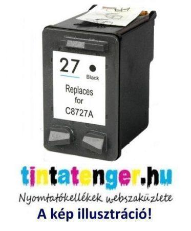 C8727A[Bk] No.27XL 20ml nagy kapacitású utángyártott fekete tintapatron