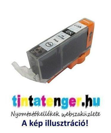 CLI-526B[Bk] 10ml utángyártott fekete tintapatron, chippel