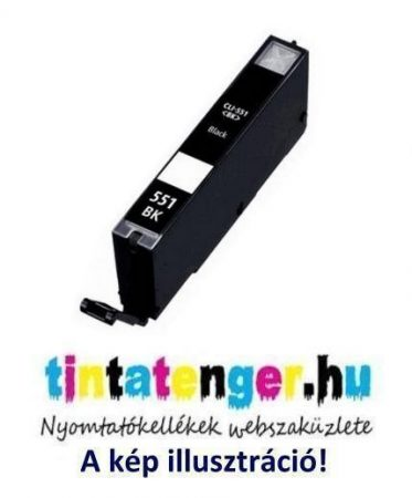 CLI-551XLB[Bk] 13ml utángyártott fekete tintapatron, chippel