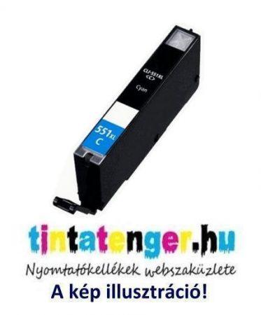 CLI-551XLC[C] 13ml utángyártott kék tintapatron, chippel