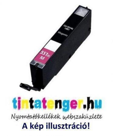 CLI-551XLM[M] 13ml utángyártott bíbor tintapatron, chippel