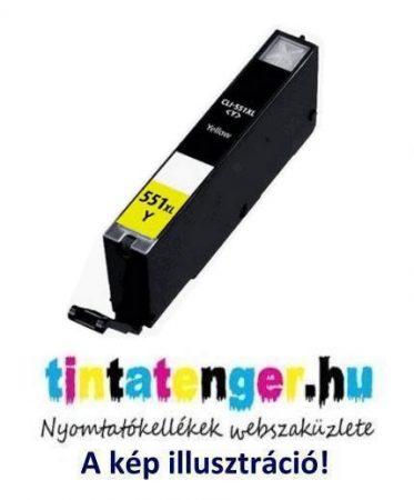 CLI-551XLY[Y] 13ml utángyártott sárga tintapatron, chippel