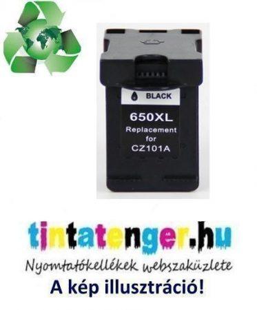 """CZ101AE[Bk] No.650XL 18ml """"Green World"""" nagy kapacitású utángyártott fekete tintapatron"""