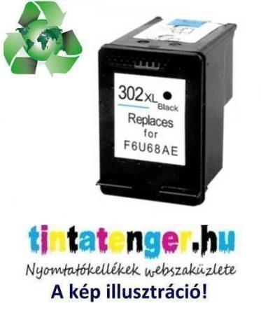 """F6U68AE[Bk] No.302XL 17ml """"Green World"""" nagy kapacitású utángyártott fekete tintapatron"""