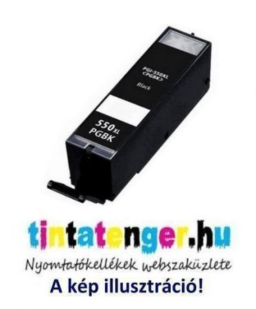 PGI-550XLB[Bk] 24ml utángyártott fekete tintapatron, chippel